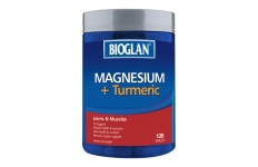 Magnesium + Turmeric- Bioglan- 120 Tablets