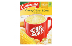 Cup A Soup Creamy Chicken & Corn With Croutons- Continental- 60g/ 2 Serves