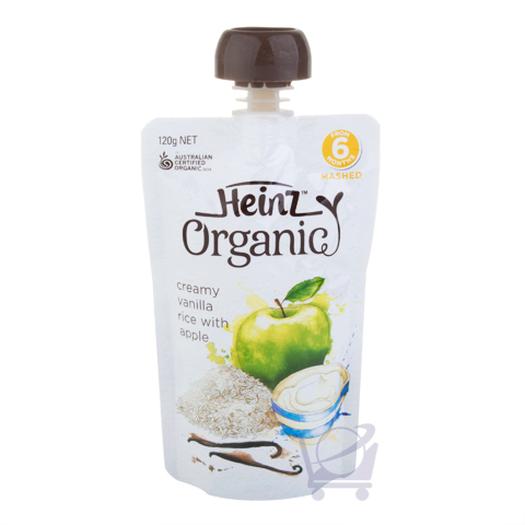 Organic Apple Creamy Vanilla Rice Baby Food 6 Mths Plus