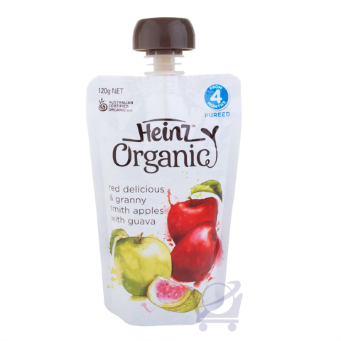 Organic Baby Food Red Amp Green Apple Guava 4 Mths Heinz