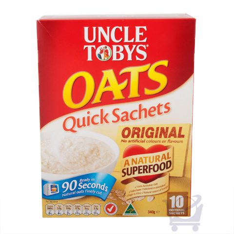 Uncle Tobys Oats Quick Sachets Original Uncle Tobys