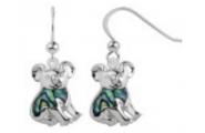 Sterling Silver Paua Shell Jewellery - Earring Koala Bear