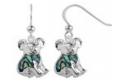 Sterling Silver Paua Shell Jewellery - Earring Koala Bear