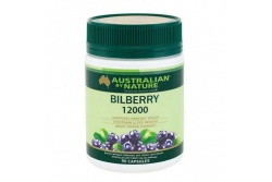 Bilberry- 1200mg- Australian By Nature- 90 Capsules