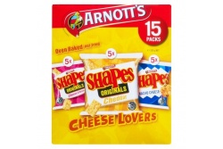 Shapes Cheese Lovers Multipack- Arnott's- 375g/ 15 Packets