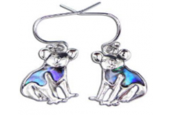 Paua Shell Jewellery-Imitation Rhodium-Earring  Koala Bear