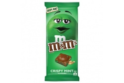 M & M's Crispy Mint Chocolate Block- MARS Chocolate- 150g