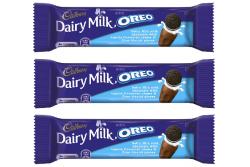 Dairy Milk Oreo Vanilla Bar- Cadbury- [Pack of 3]- 45g x3