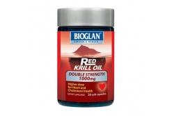 Red Krill Oil Double Strength 1000mg- Bioglan- 30 Capsules