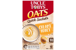 Uncle Tobys Quick Oats Creamy Honey – Uncle Tobys, 350g
