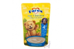 Pear & Banana Baby Rice Cereal 4 mth – by Farex, 125g
