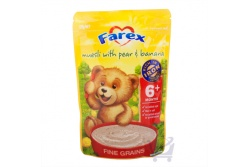 Baby Museli with Pear & Banana 6mths+ by Farex, 125g