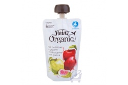 Organic Baby Food, Red & Green Apple, Guava 4 Mths by Heinz, 120g