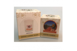 Votive Candle Frosted Glass & Votive Candle (Australian Bush) Pack by Kirra