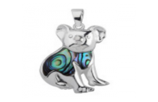 Sterling Silver Paua Shell Jewellery-Pendant Koala Bear