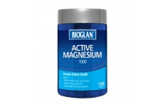 Active Magnesium Super Strength 1000mg- Bioglan- 150 Tablets