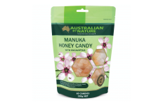 Manuka Honey Candy 12+- MGO400 with Eucalyptus- Australian By Nature- 60 Candies/Pack