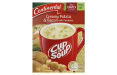 Cup A Soup Creamy Potato & Bacon With Croutons- Continental- 50g/ 2 Serves