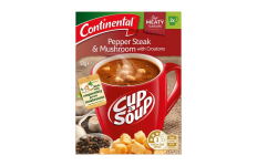 Cup A Soup Pepper Steak & Mushroom With Croutons- Continental- 52g/ 2 Packs